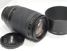 Nikon Nikkor AF-G 70-300mm f/4-5.6 Objektiv & HB-26 H 'D, neuwertig, passt DSLR Kamera