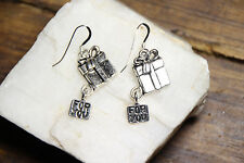 925 sterling silver earrings charm Gift Box pewter pendant 1 pair Holidays