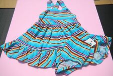 Ralph Lauren Girls Sundress Dress w/bloomers sz 9 mos NEW NWT blue striped