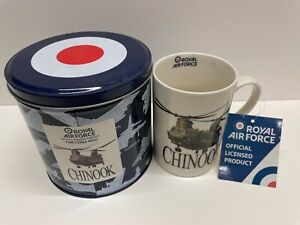 Royal Air Force Chinook Helicopter mug in presentation tin