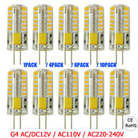 4X 6X 10X G4 Base 48 LED Light Bulb Lamp 3W AC/DC12V AC110V/220V Warm/Cool White