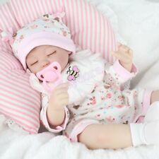 Handmade Sleeping Girl Doll Realistic Newborn Vinyl Silicone Reborn Baby Dolls