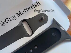 NEW 100% Genuine GRAY/BLACK CERAMIC PIN 42/44mm *Apple Watch EDITION*Sport Band
