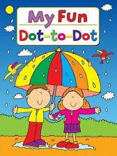 1 x A4 CHILDRENS KIDS DOT TO DOT PUZZLE COLOURING ACTIVITY FUN BOOK MY FUN