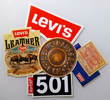 5 Beautiful Vintage Stickers ✱ LEVI´S STRAUSS & CO ✱ Clothing Advertising 80´s