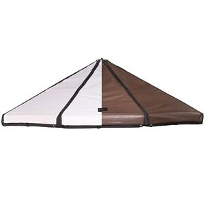 Advantek Pet 23253 3 Foot Dog Gazebo Reversible Canopy Cover Top, Brown/White