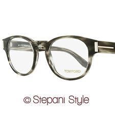 Tom Ford Oval Eyeglasses TF5275 093 Size: 50mm Striped Gray/Palladium FT5275