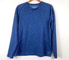 Rei Co-op Midweight Long Underwear Crewneck Shirt Men's Sz Large Blue 870127