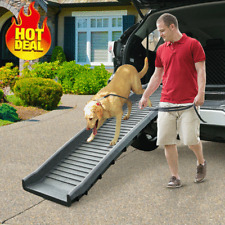 """61"""" Dog Ramp Foldable for Car Truck Suv Backseat Stair Steps Auto Travel Ladder"""