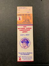 1974 NLCS GAME 2 FULL TICKET STUB PITTSBURGH PIRATES LOS ANGELES DODGERS NM ORAN