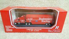 1993 Racing Champions 1:87 NASCAR Bill Elliott Bud Budweiser Hauler Transporter