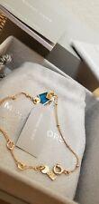 Michael Kors Mkc1041aj710 Bracelet 925 Silver Sterling Gold Plated Agate
