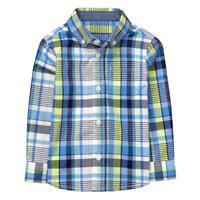NWT Gymboree Dressed Up Boy Plaid Blue Long Sleeve Button Down Shirt 2T 3T 4T 5T