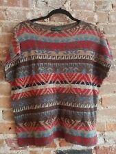 Ralph Lauren Sweater Indian Print Aztec Tribal Native Short Sleeve Sweater
