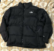 The North Face Mens Black 550 Winter Goose Down Coat Jacket XL Repaired