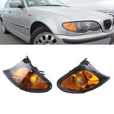 2x Amber Yellow Park Signal Corner Light For BMW 3 Series E46 02-05 Sedan Wagon