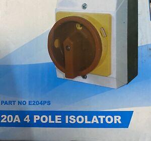 20A Rotary Isolator 4 Pole Weatherproof IP65 Lockable Rotary Isolator Switch