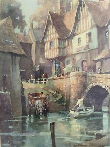 Pair Of Pencil Signed Vintage george Ayling Prints