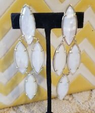 Kendra Scott Rare White Pearl Drop Arminta Earrings. HTF