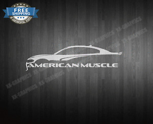 American Muscle Car Outline Decal Sticker Fits Charger Challenger Dodge