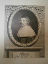 Planche gravure portrait de Marie de Bragelongne Graveur Robert Nanteuil 1656