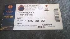 TICKET : CLUB BRUGGE KV - HJK HELSINKI 11/12/2014 EUROPA LEAGUE