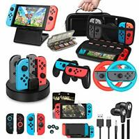 Accessories Bundle for Nintendo Switch, Jane Choi Accessories Kit with Carrying