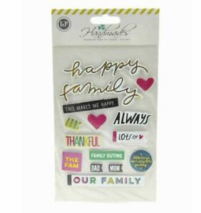 Sticker Embellishment with Double Sided Tape (HAPPY FAMILY)