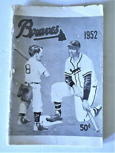 1952 BOSTON BRAVES OFFICIAL YEARBOOK