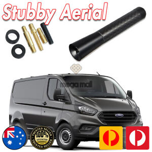 Antenna / Aerial Stubby Bee Sting for Ford Transit Custom Black Carbon 8 CM