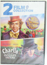 2 Film Collection Willy Wonka / Charlie and the Chocolate Factory ~ Movie Dvd