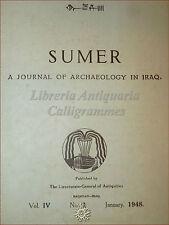 SUMER Journal of Archaeology in IRAQ 1948 Vol. IV n. 1 Sumeri RARO Sumerica