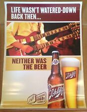 """Schlitz Beer Posters """"Classic 1960's Formula"""" Electric Guitar Nos Almost Gone!"""