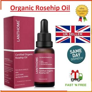 Rosehip Oil Certified Organic 100% Cold Pressed Pure Rose Hip Best Facial Oil