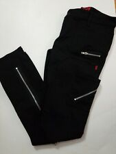 Tripp NYC Womens  Black Jeans Goth Punk Skinny Leg Zippers  Pants Sz 28 7