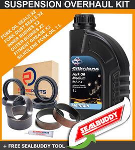 Fork Suspension Seals Bushes Tool Oil for Honda XL1000 Varadero 99-11