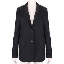 Jil Sander Charcoal Black Silk Blend Blazer Jacket FR38 UK10