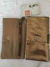 NEW RIP CURL Golden Sun Foldover Wallet SMALL ZIP BAG RipCurl Gold LWLFA7