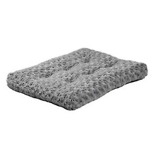 MidWest Homes for Pets Plush Dog & Cat Bed. Color Gray.