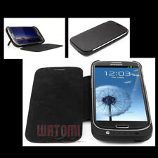 3200MAH EXTERNAL BACKUP BATTERY CHARGER POWER CASE COVER BLACK FOR GALAXY S3