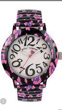 Betsey Johnson Ladies Pink Black Purple Leopard Bracelet Watch BJ00567-07