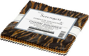"Artisan Batiks Serengeti 42 Pieces 5"" Charm Pack by Robert Kaufman"