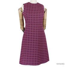 Victoria by Victoria Beckham Pink Purple Geometric Jacquard Mod Dress UK12 IT44