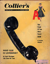 1955 Colliers June 10-christian Dior; Matisse in the attic; San Andreas Fault