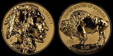 2013 $50 AMERICA BUFFALO ONE OUNCE GOLD REVERSE PROOF COIN 1 OZ. W/COA @ BOX
