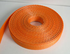 "10 Yards 3/4"" Orange Nylon Webbing .050"" (1.25mm) Thick"