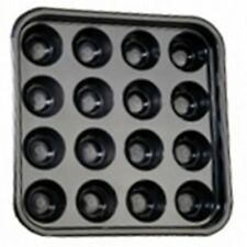 """16 BALL POOL OR BILLIARD 2"""" or 2 1/4"""" BALL TRAY. GOOD QUALITY STRONG BLACK TRAY"""
