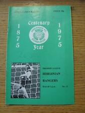22/11/1975 Hibernian v Rangers  (Writing On Cover, Team Change). Item In very go