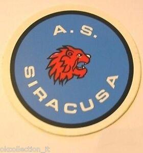 ADESIVO ORIGINALE anni '80 _ A.S. SIRACUSA Calcio (cm 9) Sticker Vintage