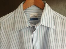 Mens Haines & Bonner Shirt 16.5 Inch Collar Blue With Stripe